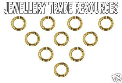 18ct Yellow Gold 4mm Heavy Jump Ring Jewellery Making