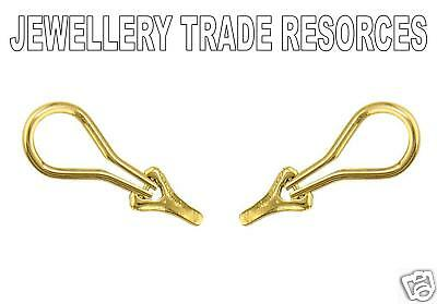 18ct Yellow Gold Earring Ear clip on Jewellery Making