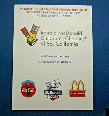 McDonald's Coca-Cola Frank & Son #1 phonecards set of 4