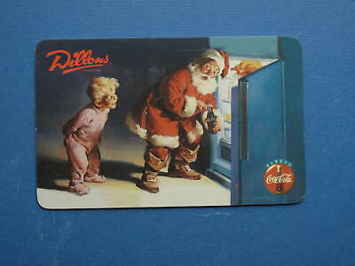 Cola-Cola Santa and Boy looking in Refrigerator phonecard by Dillons