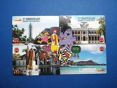 McDonald's Coca-Cola Pearl Ridge Hawaii puzzel phonecards set of 4
