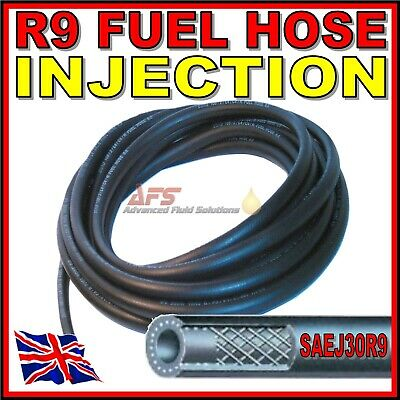 8mm Fuel Rubber Hose SAEJ30R6 Fuel Petrol Diesel Unleaded Injection Pipe+Clips
