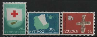 Cyprus 1975 Anniversaries and Events SG 446/8 MNH