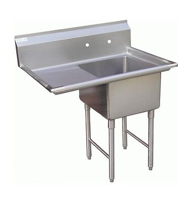 "1 Compartment Prep Sink 15""x15"" with 1 Left Drainboard"