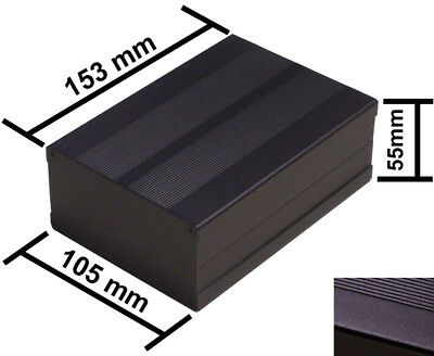 Black DIY Aluminum Project Box Enclosure Case Electronic 153x105x55mm_Medium