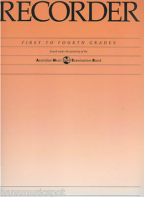 NEW AMEB Recorder Grades 1 to 4 Sheet Music Book