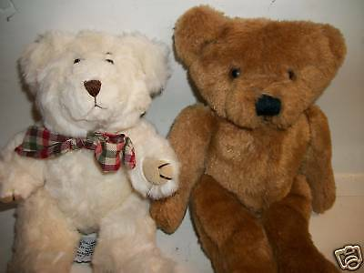 Two 1980s Plush Teddy Bears, Hallmark & Bryon, 9""