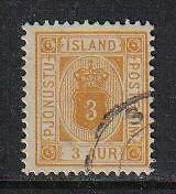 Iceland 1898-1902 3a yellow Official (O10) used
