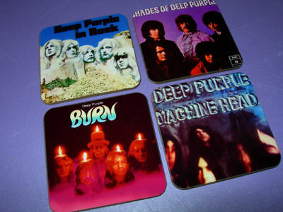 Deep Purple Album Cover Drinks Coaster Set