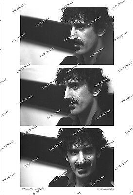 Frank Zappa UNIQUE 3-FRAME CANDID PHOTO SEQUENCE 1980 From Original Neg NUMBERED