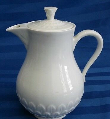 A. Vignuad Freres Limoges France White Coffee / Tea Pitcher