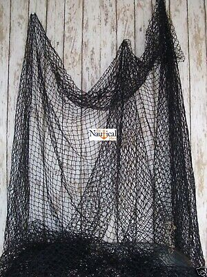 Authentic Fishing Net ~ 10'x10' BLACK ~ Crab, Lobster Trap ~ Old Vintage Netting