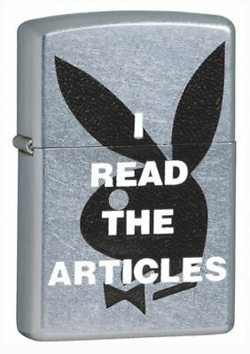 Personalised Zippo Lighter Playboy I read the articles Engraved Free