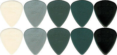 10 X Jim Dunlop Grey MIXED Gauge Guitar Picks Starter Set / Beginners