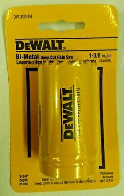 "DeWalt DW1833 1-3/8"" Bi-Metal Deep Cut Hole Saw"