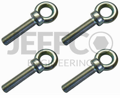 "Motorsport Harness 7/16"" UNF Seat Belt Eye Bolt 50mm Long 4 pack"