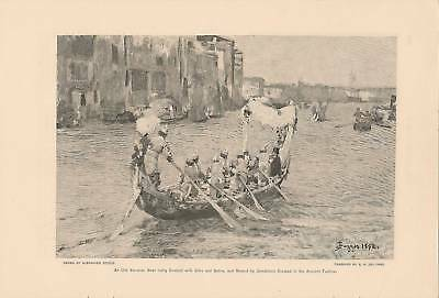 1892 Grand Canal Venice Italy vintage article