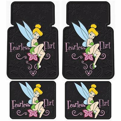 4Pc Tinkerbell Fearless Flirt Car Floor Mats