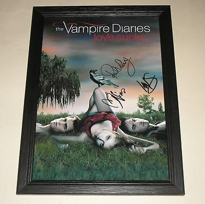 "The Vampire Diaries Pp Signed & Framed 12X8"" Poster"