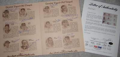 1980 Cubs' OLD TIMERS DAY - 1945 Cubs/Tigers Signed Program w/ PSA LOA