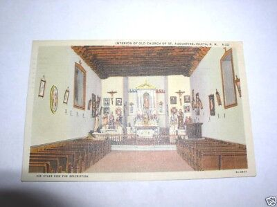 Vintage Postcard -Interior Old Church of St. Augustine
