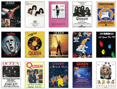 Queen Freddie Mercury  Concert Posters Trading Card Set