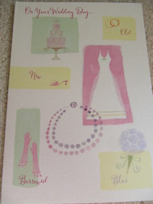 Hallmark Lovely Colourful Shiny Wedding Day Card