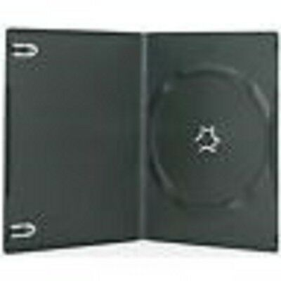 400 New Black Single Slim CD DVD Case 7mm