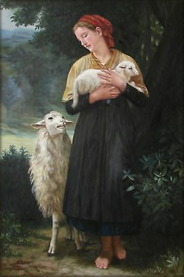 Quality Hand Painted Oil Painting Repro Bouguereau The Shepherdess 24x36in