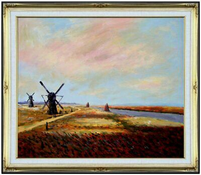 Framed Hand Painted Oil Painting Repro Claude Monet Bulb Field 20x24in