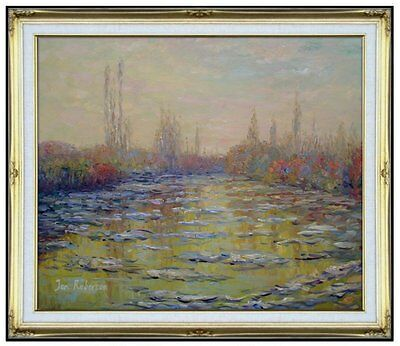 Framed Oil Painting Repro Claude Monet Floating Ice Near Vetheuil, 20x24in