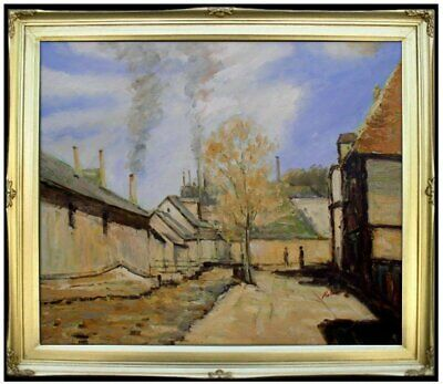 Framed Hand Painted Oil Painting Repro Claude Monet Robec Stream 20x24in