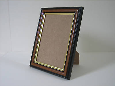 Brown 4x6 Photo Picture Frame Mount 2.5x4.5 Free Standing