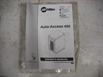 Miller Auto-Axcess 450 Owners Manual OM-210-540Q