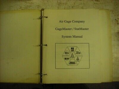 Air Gage Company Gage Master/Stat Master System Manual version 5.XX