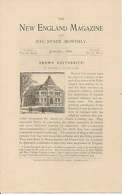 1886 Brown University Providence R.I. article