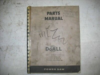 DoAll Power Saw C-69 Parts Manual