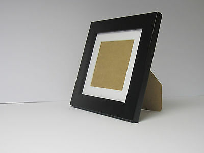 White 7x9 Picture  Photo Frame  Mount 4.5x6.5 Free Standing.