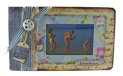 Embellished Cover VACATION Scrapbook Photo Album 5x7