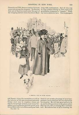 1901 Shopping In New York Vintage Article