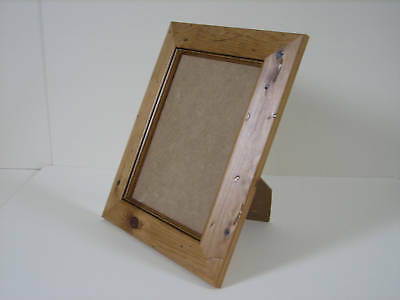 Antique Pine Real Wooden 4x5 Picture Photo Frame Mount 2x3 hang Stand