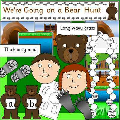 We're going on a Bear Hunt -teacher -story sack resources TO PRINT - KS1, EYFS