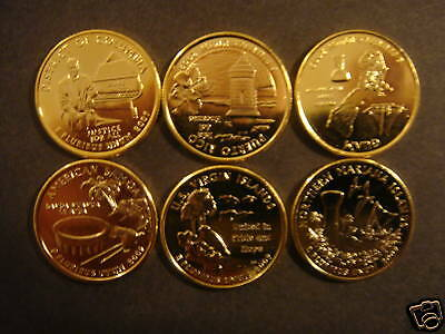 2009 Complete Set Of 24kt. Gold Plated State Quarters