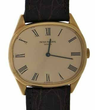 Patek Philippe 18K Yellow Gold Manual Mens Watch