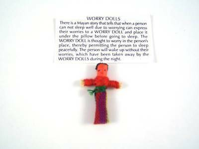 Guatemalan Worry Doll With The Printed Story Children Anxiety Fair Trade