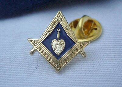 Masonic Lodge Officer Charity Steward Trowel Jewel Lapel Pin Badge & Gift  Pouch