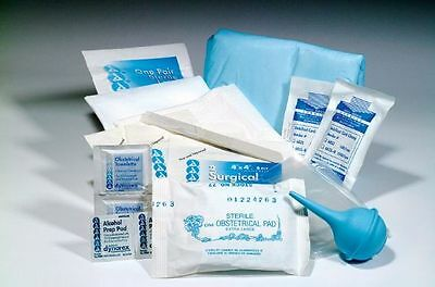 Obstetrical Emergency Disposable Baby Ob Kit Bagged New