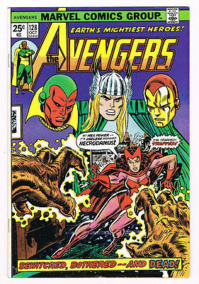 Avengers # 128 Bewitched, Bothered & Dead! Necrodamus!