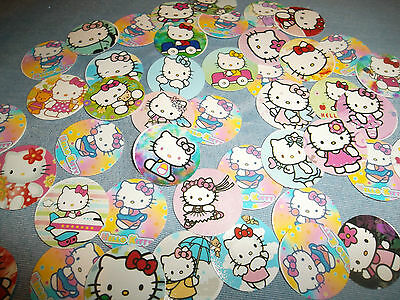 New Pre Cut Variety Of Hello Kitty  Bottle Cap Images! 30 For $5