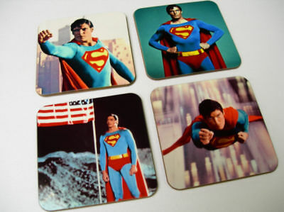 Superman Christopher Reeve New COASTER Set